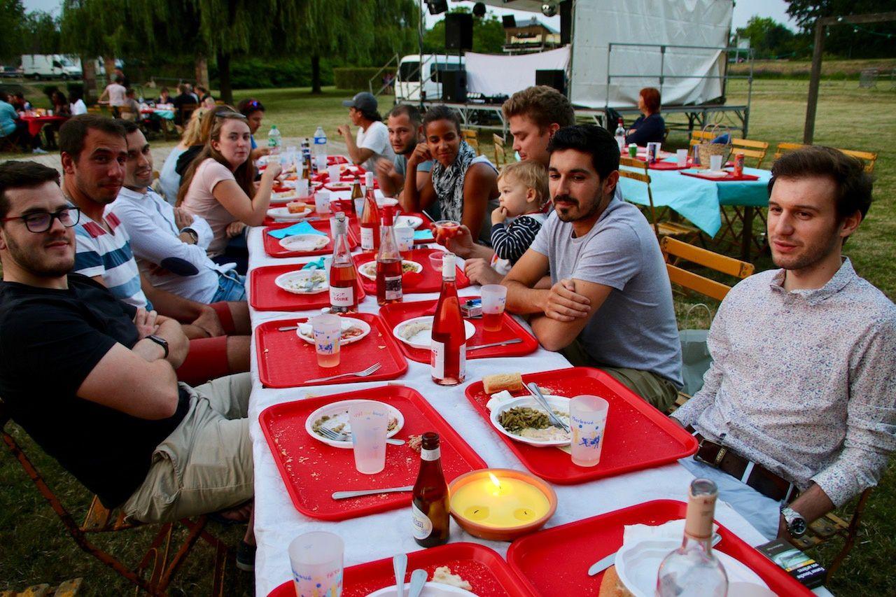 13 juillet à Marboué, une belle soirée