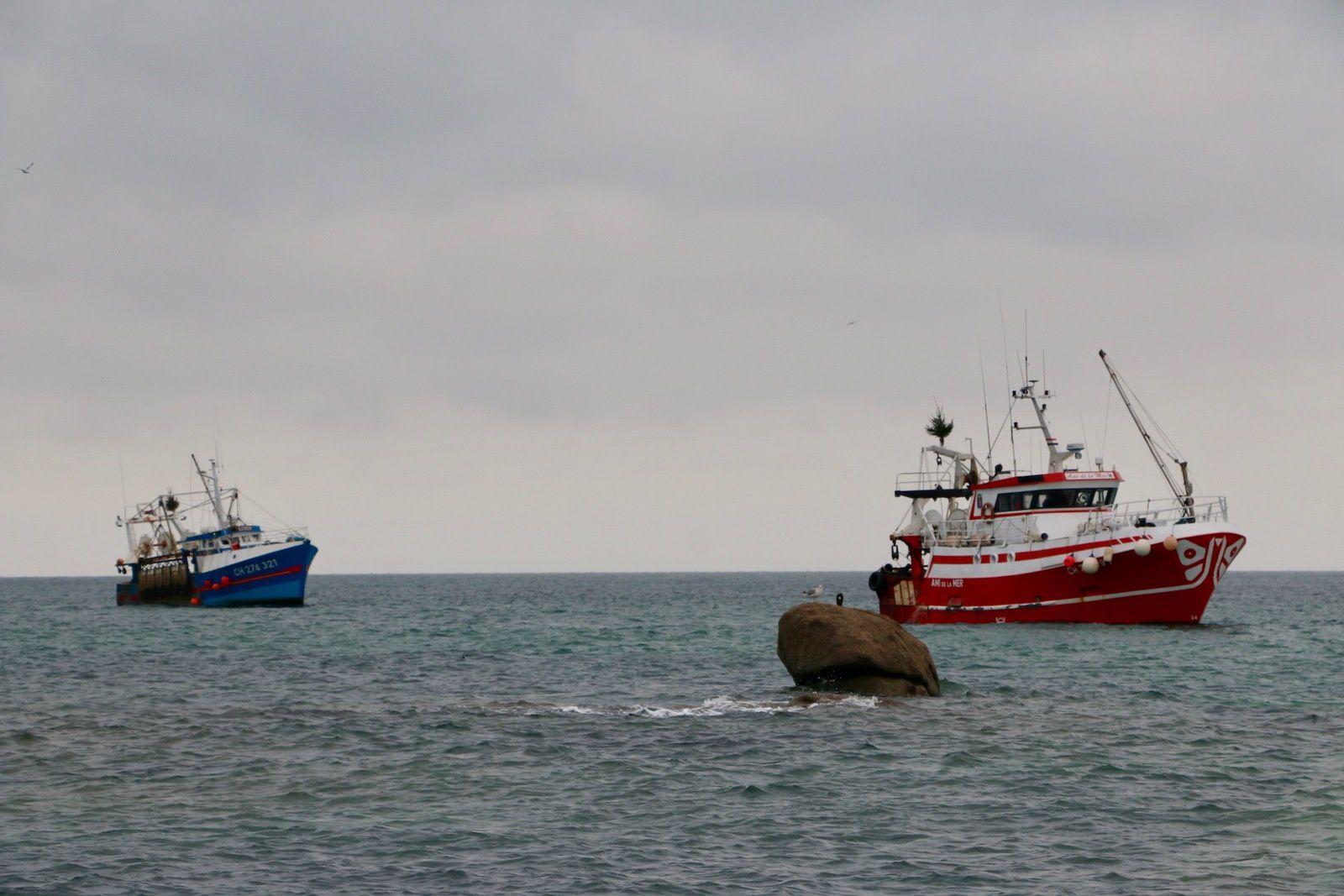 Barfleur, retour de pêche