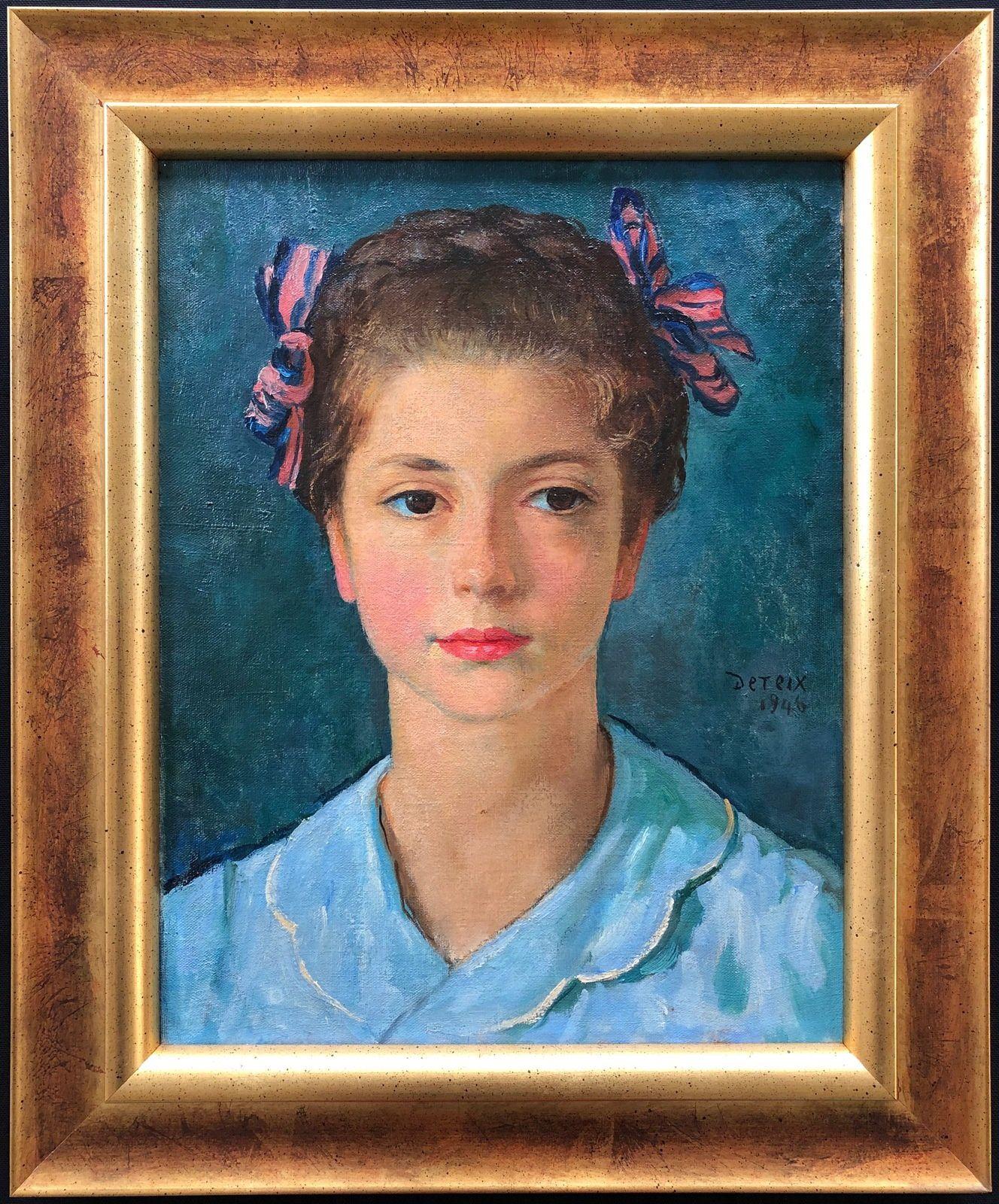 Portrait d'Yvette Maurin-Javid 1935-1983 (peinture d'Adolphe Deteix 1892-1967)