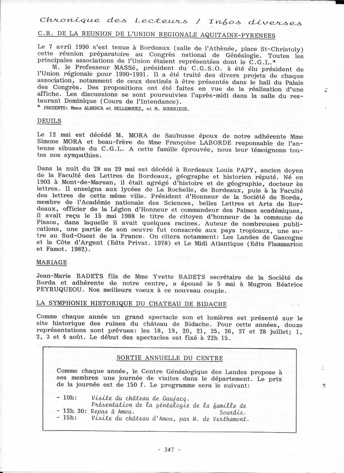 Reproduction du N°14   2e trimestre 1990