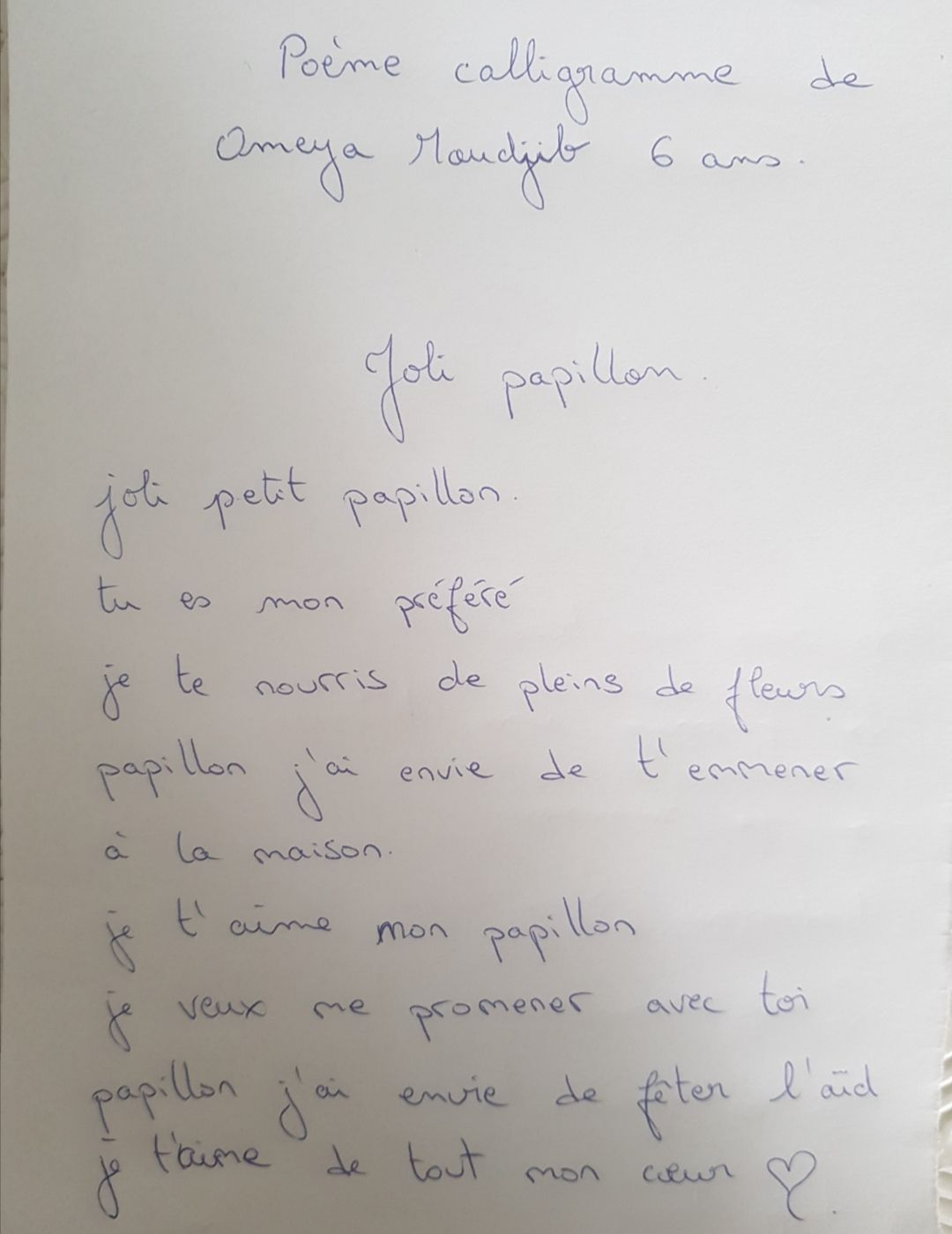 Participation 3 : Omeya, 6 ans
