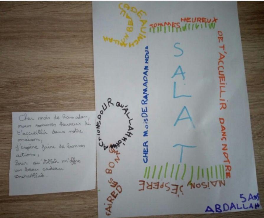Participation 2 : AbdAllah, 5 ans