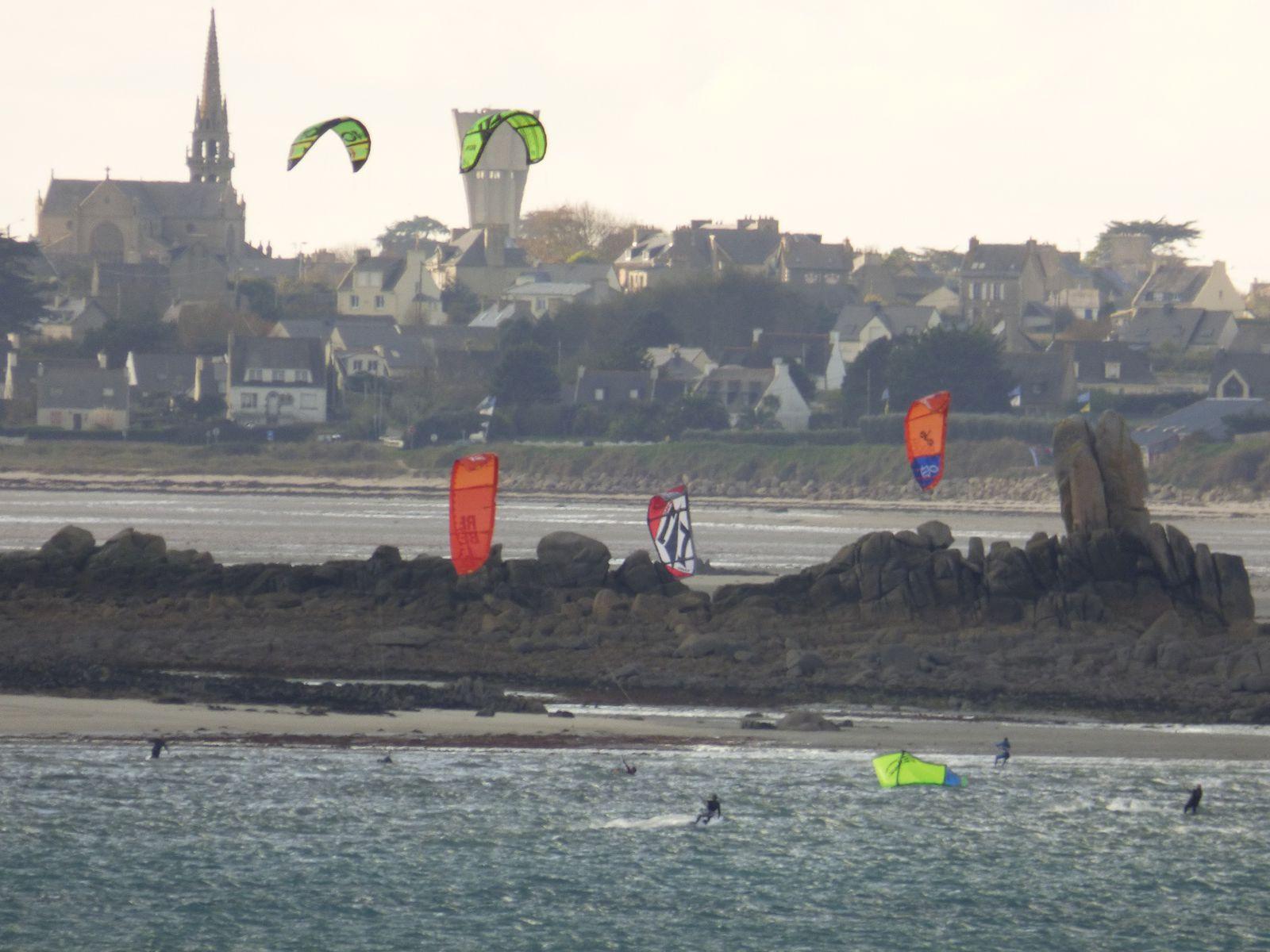 Kites sous les rafales de vent...