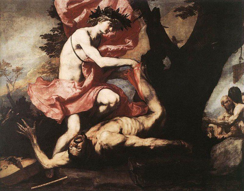 Apollon écorchant Marsyas, Jusepe de Ribera, 1637