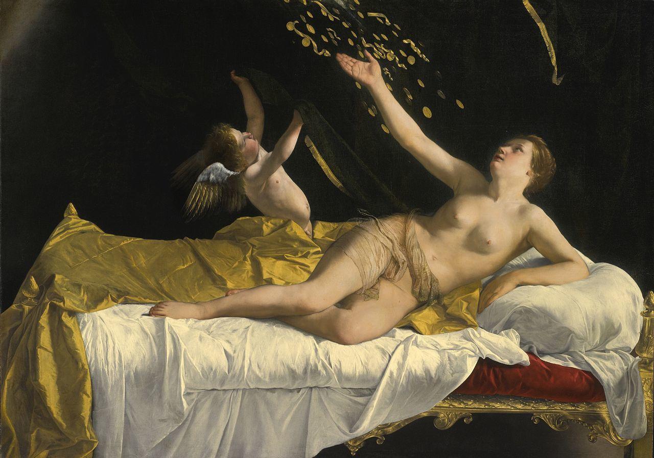 Danaé et la pluie d'or, par Orazio Gentileschi (1563–1639) Cleveland Museum of Art