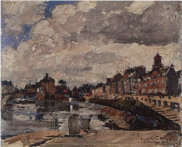 Landerneau, les quais - Lucien Victor Delpy