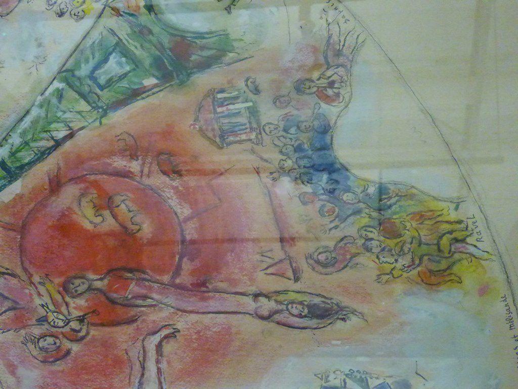 Maquette pour le plafond de l'Opéra Garnier - 1963
