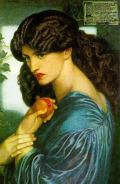 Proserpine par Gabriel Rossetti