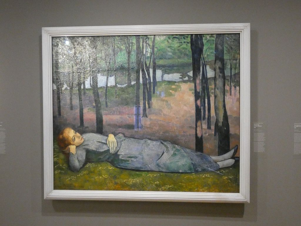 « Madeleine au Bois d'amour », huile sur toile d'Emile Bernard (H. 137, L. 163 cm). /RMN - Grand Palais (musée d'Orsay)/Hervé Lewandowski