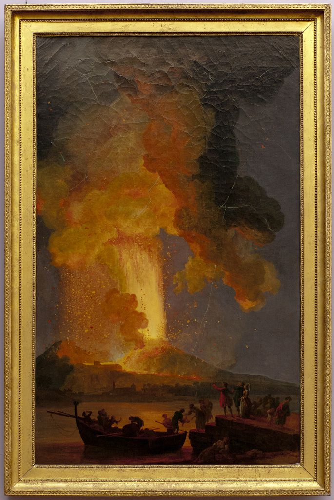 Pierre-Jacques Volaire (Toulon, 1729 – Naples, 1799)  L'éruption du Vésuve 1771