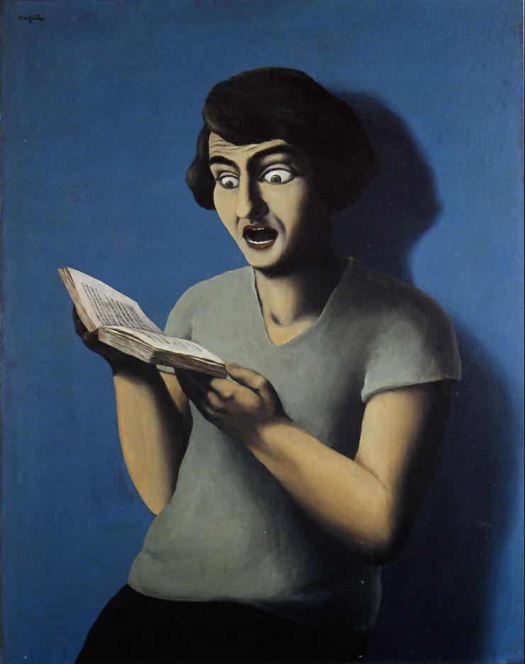 la lectrice soumise - René Magritte