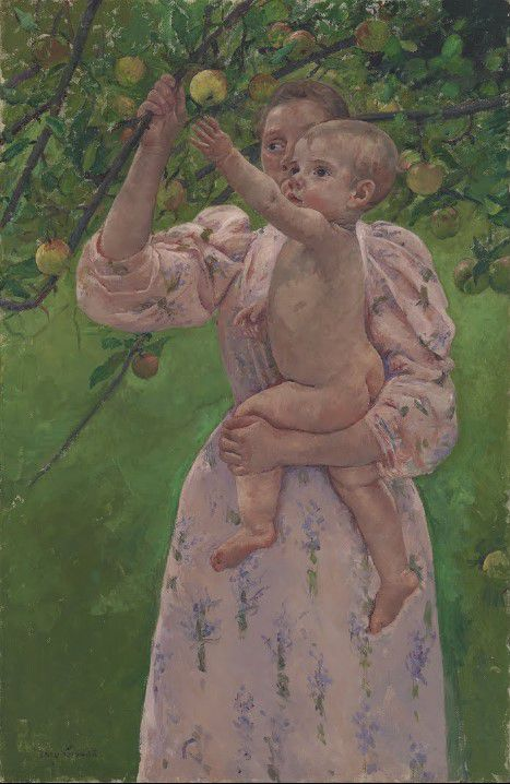 Child picking a fruit - Mary Cassatt