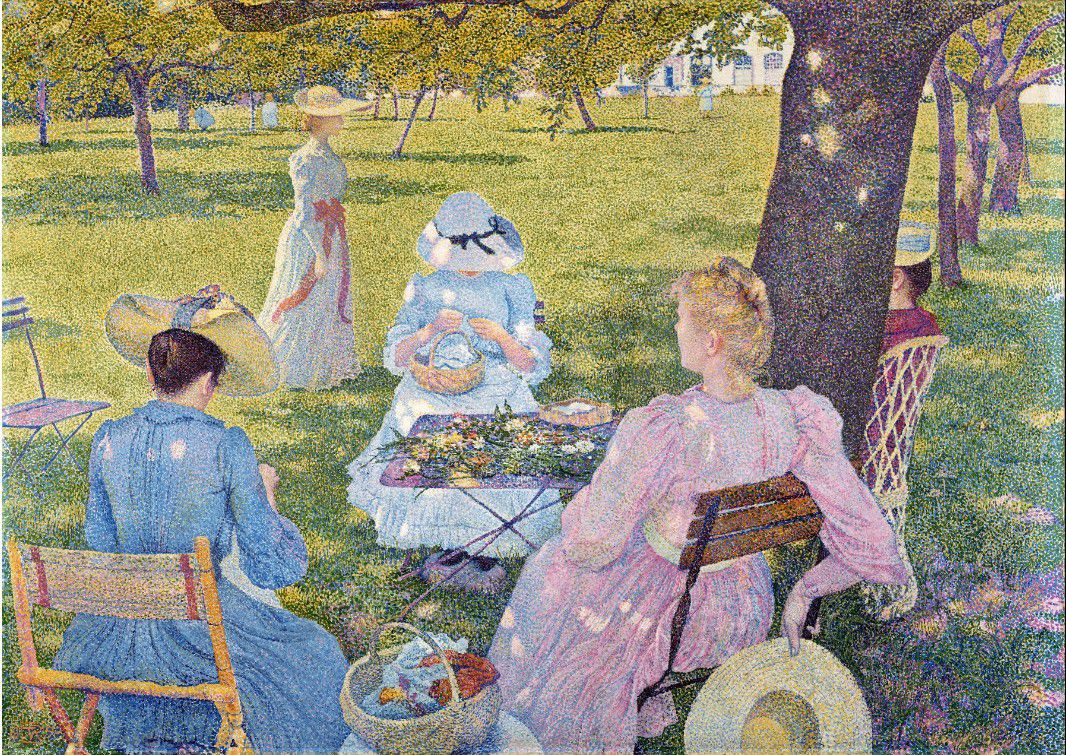 In July before Noon or the Orchard - Théo Van Rysselberghe