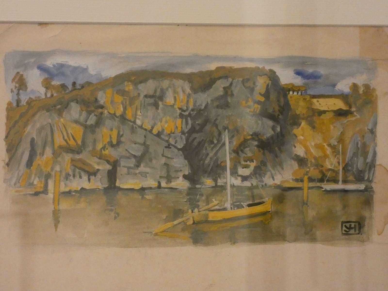 Les rochers sur l'estuaire - projet de tête de chapitre - Yvonne Jean-Haffen