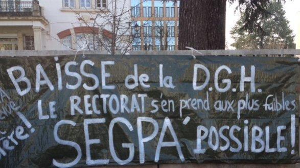 Pétition SEGPA : baisse drastique des moyens inadmissible ! Attaque sournoise contre des sans-voix ! Mobilisons-nous !