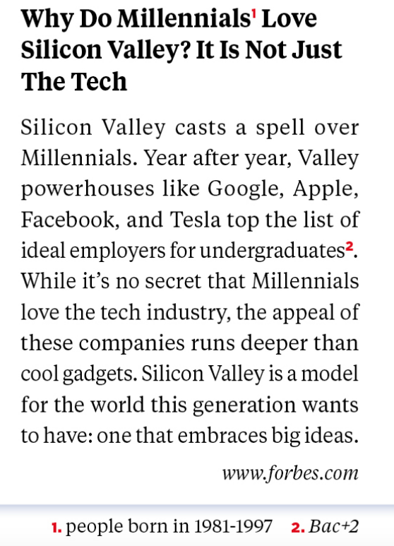 Why do Millenials love Silicon Valley? It is not just the tech