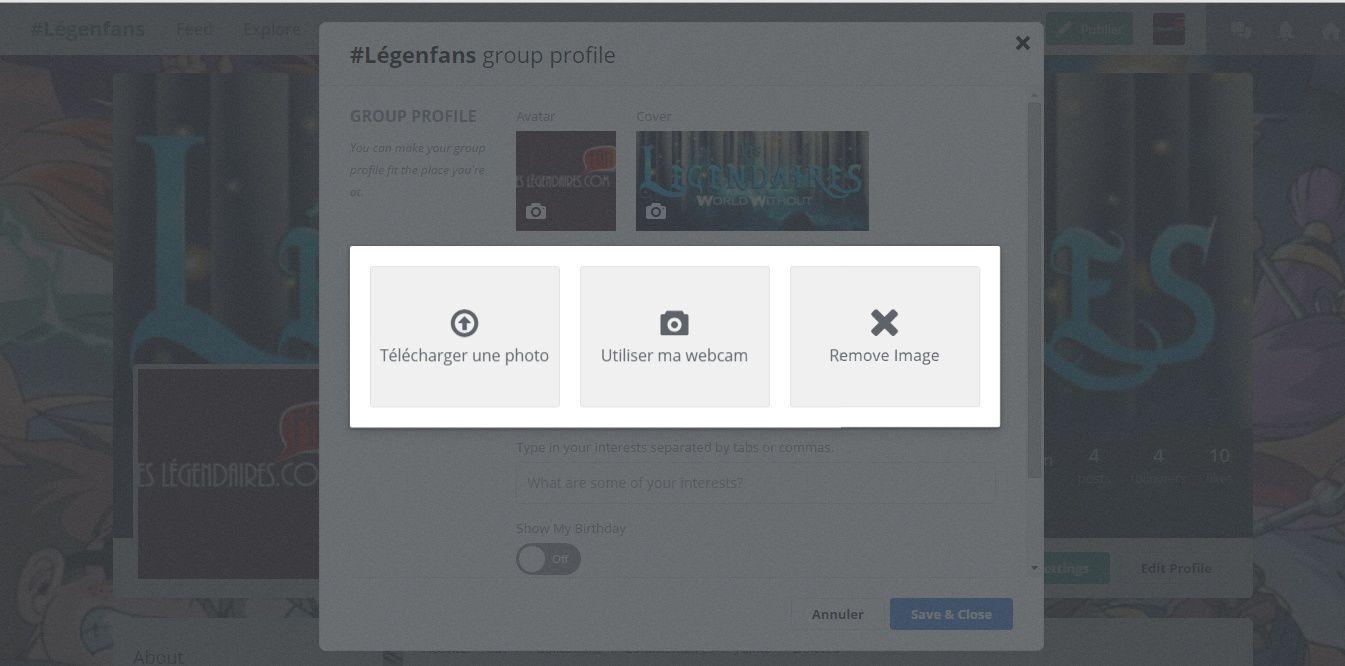 Modifier vos photos de profil et couverture