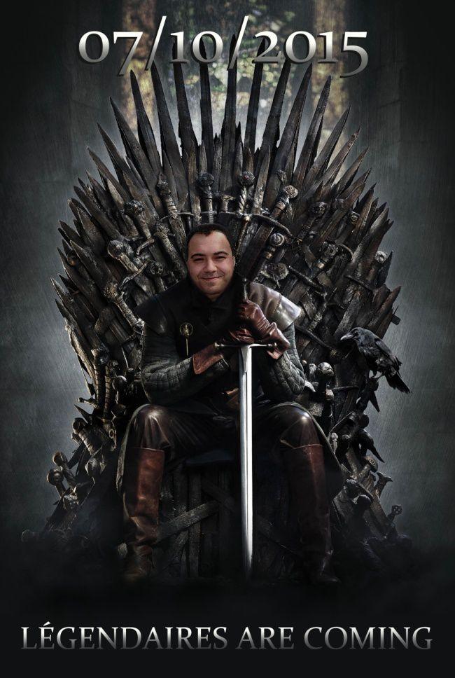 "Patrick Sobral parodie ""Game Of Thrones"" à l'occasion de la sortie de ""La Fin de l'Histoire ?"""