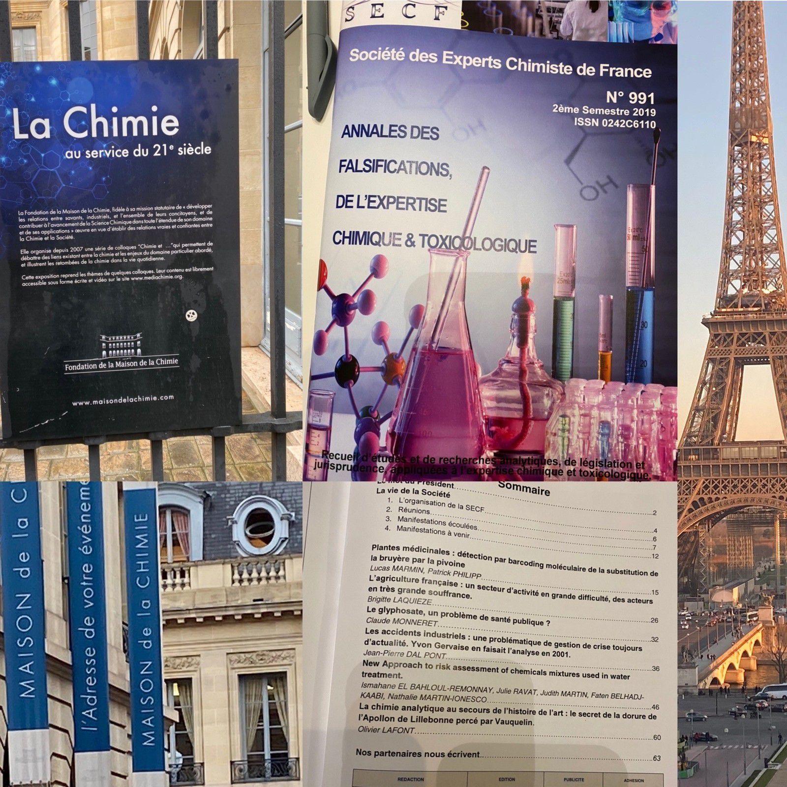 Societe des Expertchimistes de France C.A. du 30/1/2020 et Publication Revue No 991