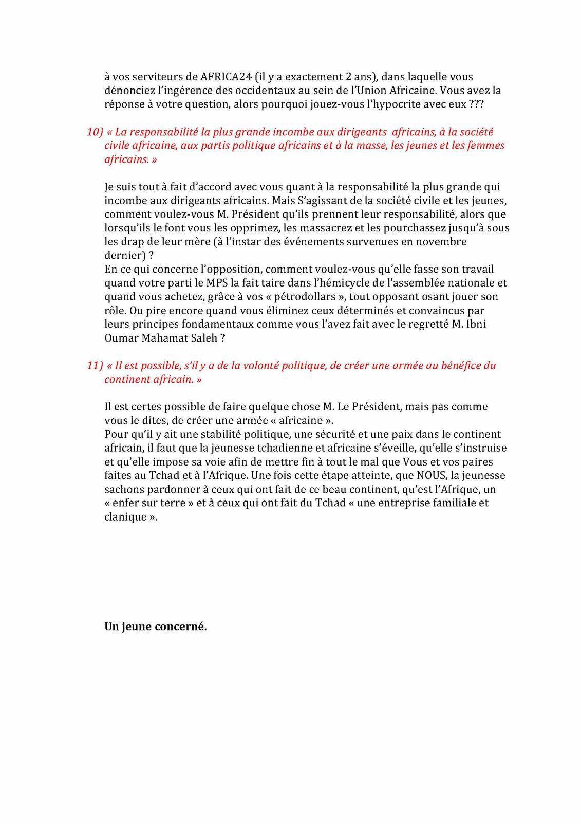 Intervention d'Idriss Deby au Forum de Dakar sur la paix et la sécurité:  décryptage et réaction