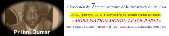 Tchad | 2008-2015 : Le COMITÉ DE SOUTIEN au Pr. IBNI organise une Journée de Mémoire (Métro 12 - Max Dormoy)