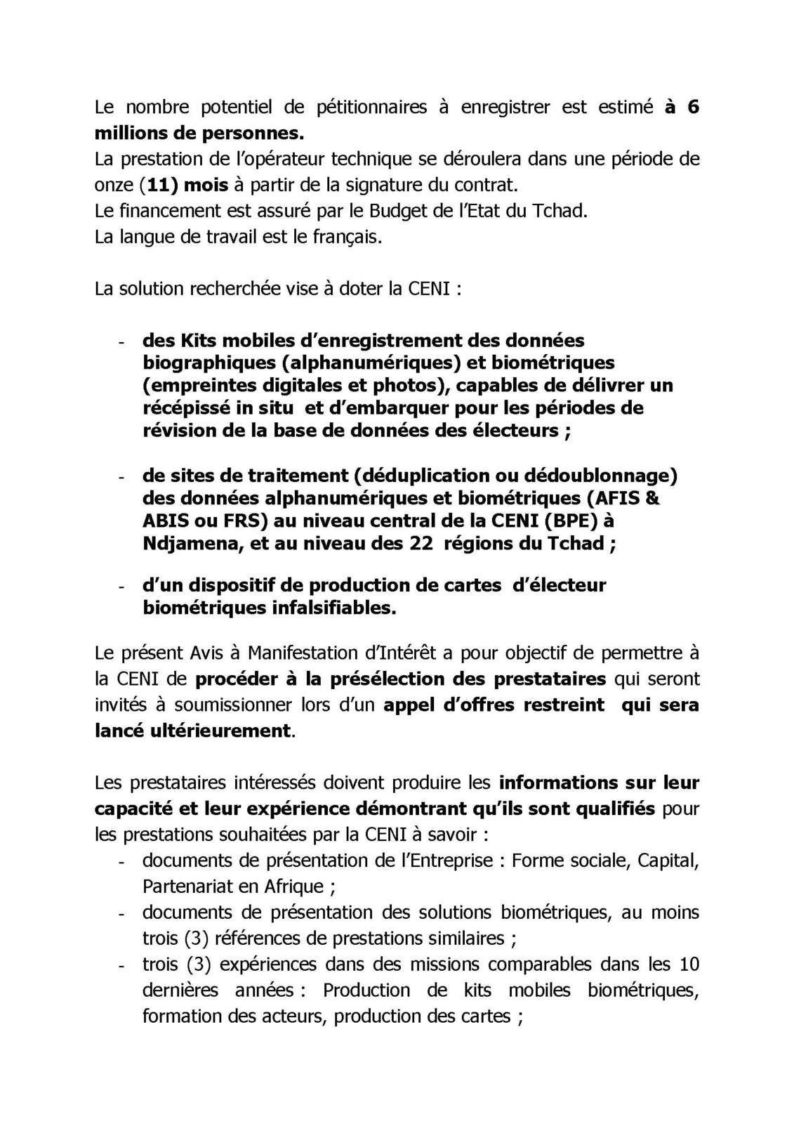CENI : vigilance de mise au Tchad
