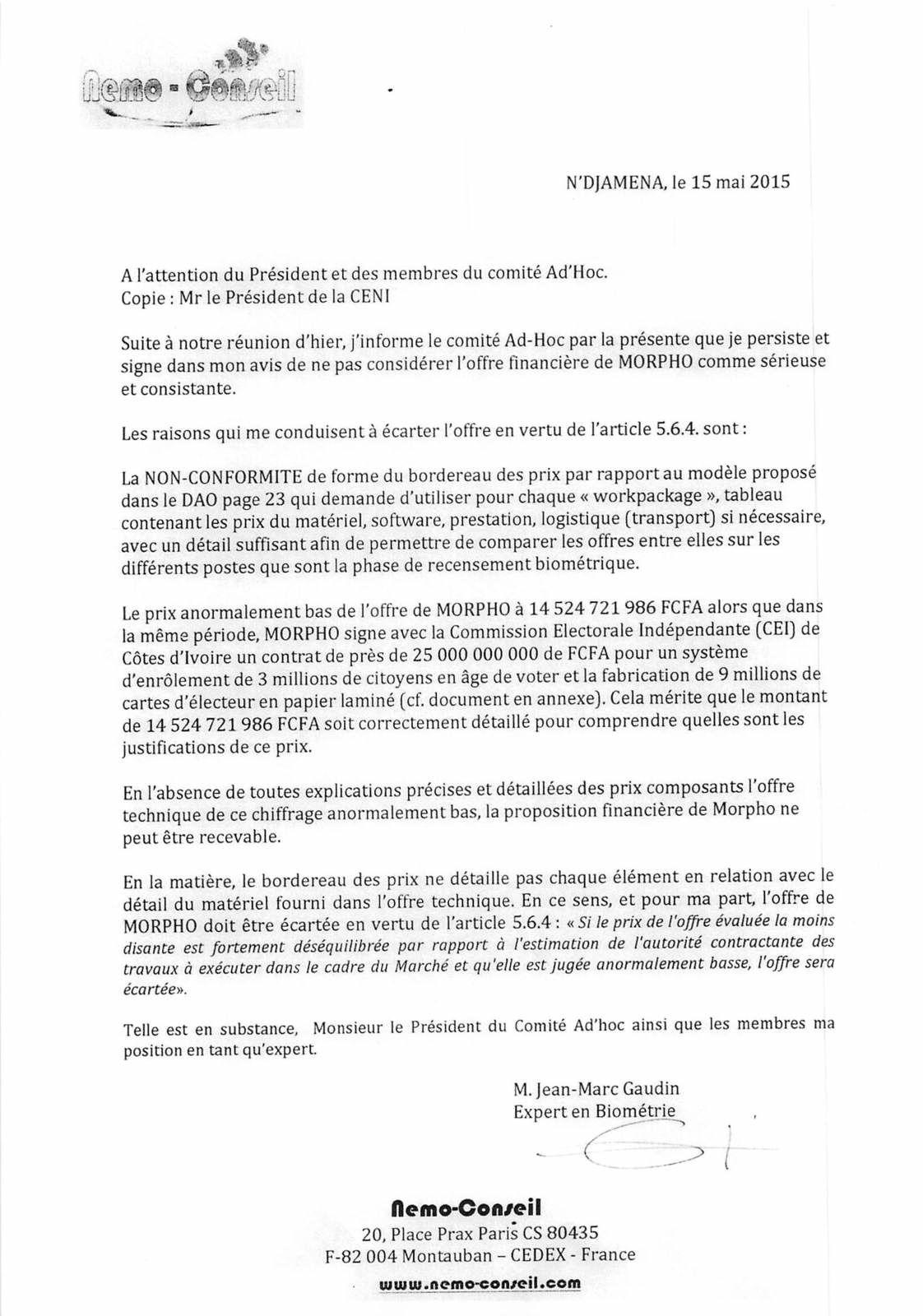 Tchad:  Le Président de la Céni Royoumbaye Nadoumngar entretient-il le faux ?