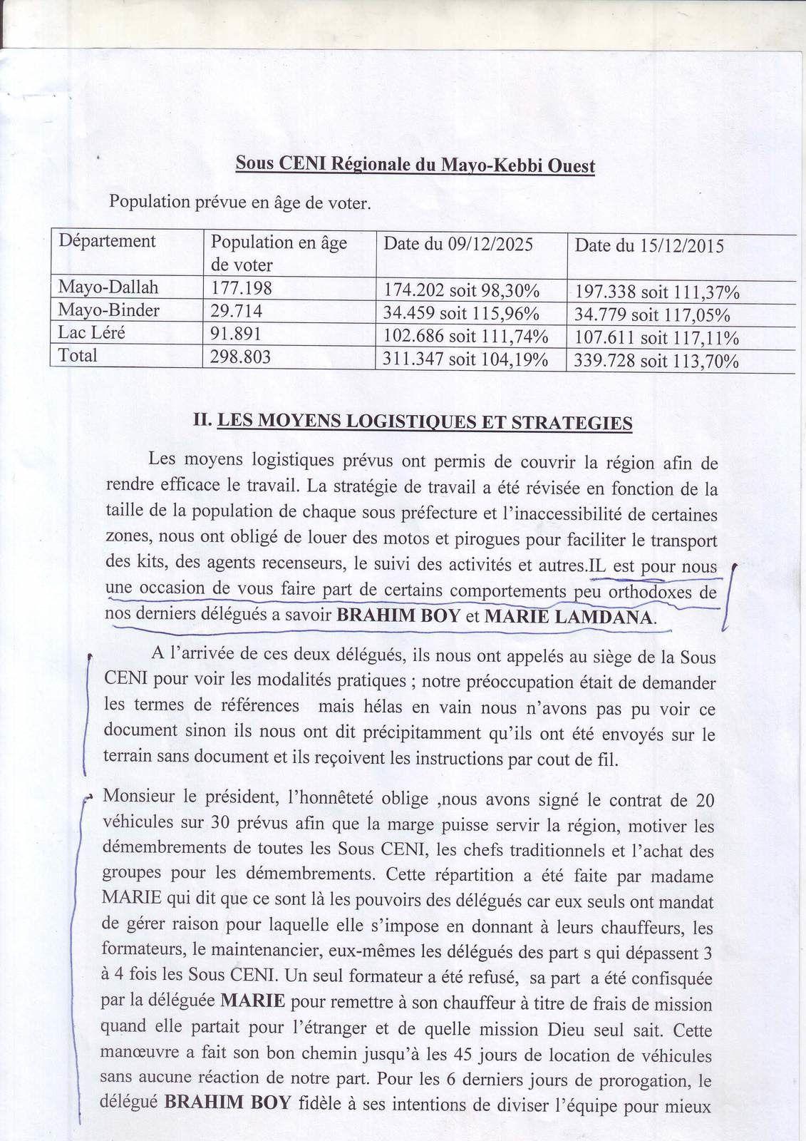 Tchad: rapport accablant et sans appel de la CENI régionale du Mayo-Kébbi