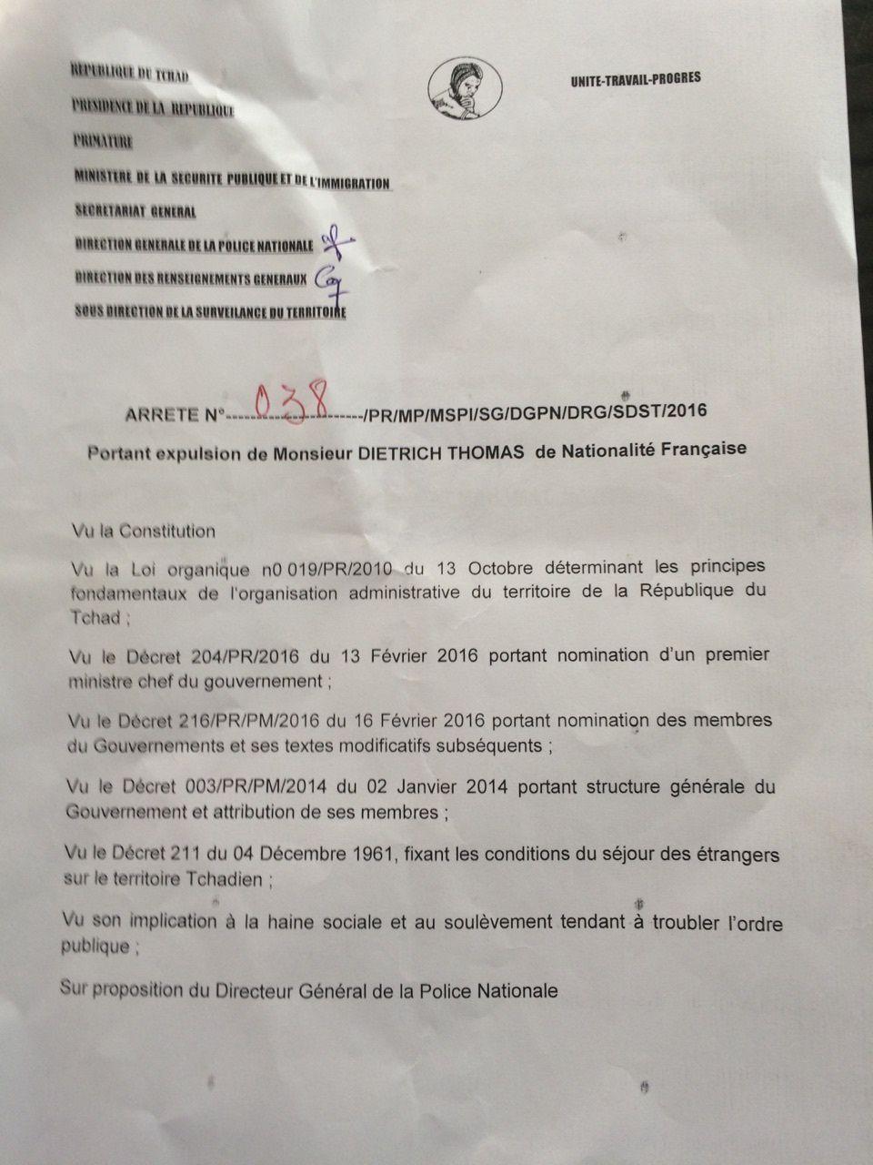 Tchad: pourquoi la France ferme-t-elle les yeux sur les expulsions de ses ressortissants  par le régime terroriste d'Idriss Deby ?