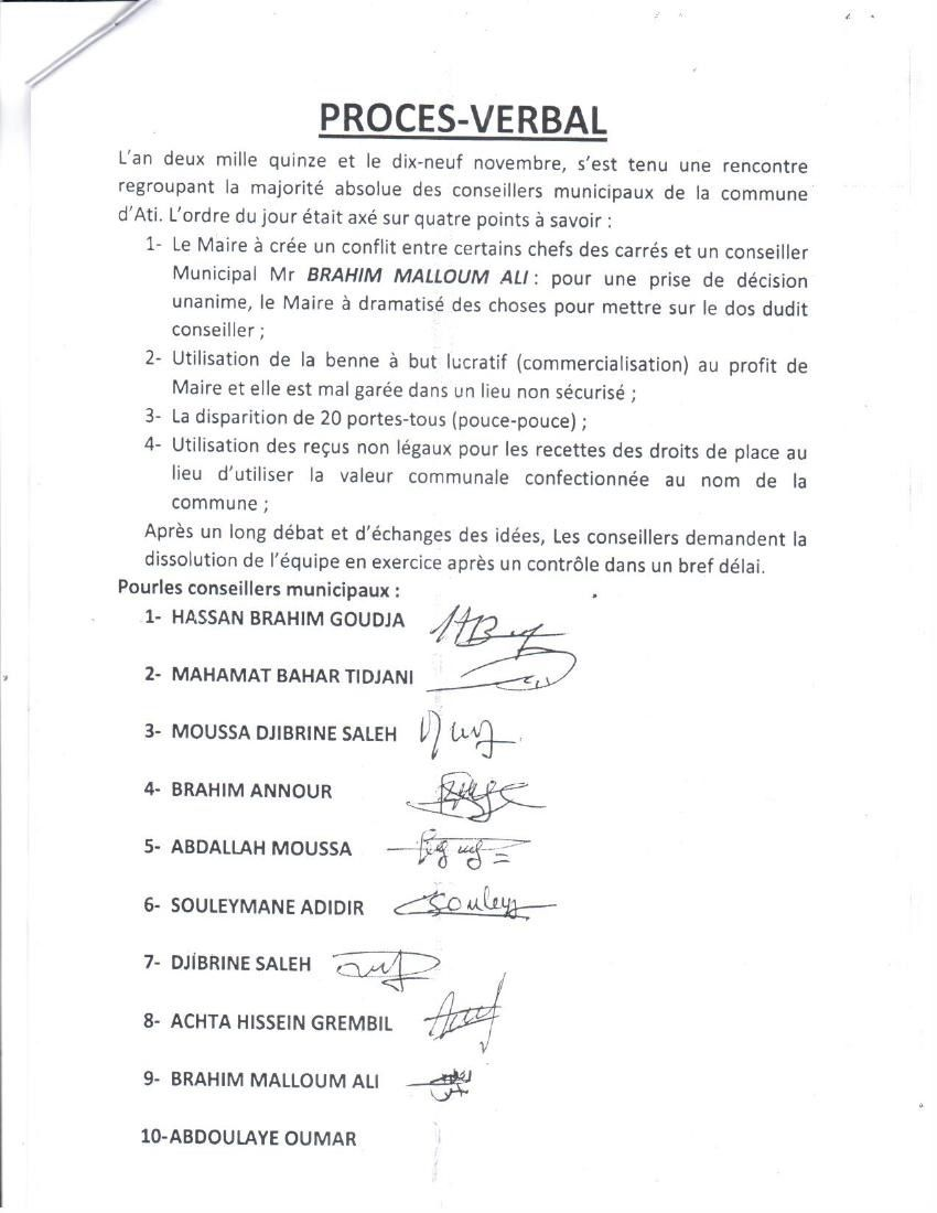 Tchad: le MPS du Batha se déchire après l'élection (documents confidentiels)