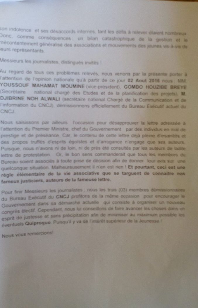 Tchad : démission collective des responsables du CNCJ