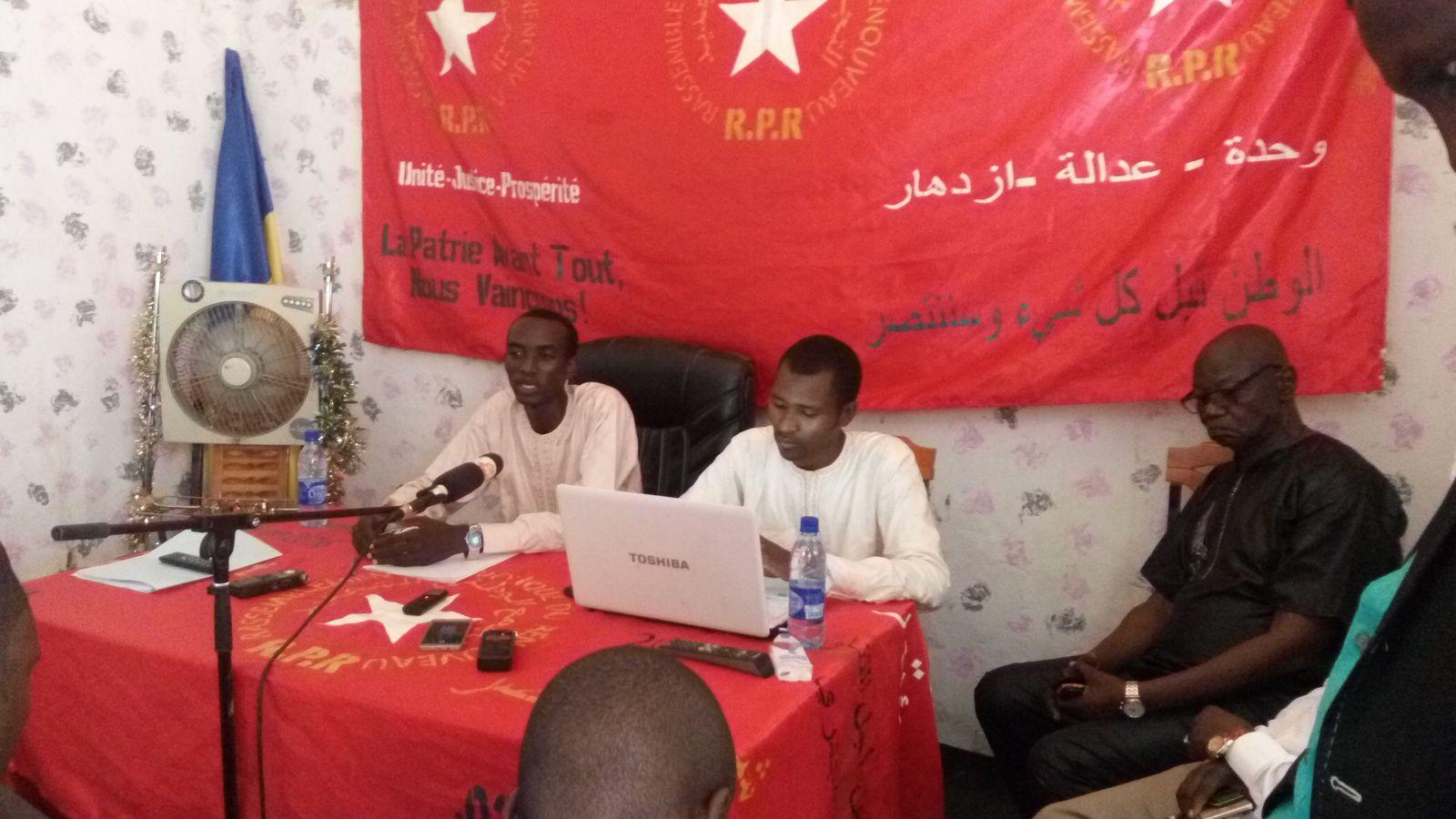 En conférence de presse: le RPR réintègre le FONAC au Tchad