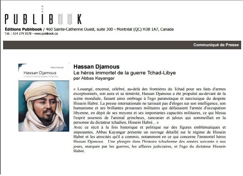 "Hassan Djamous""le héros immortel de la guerre Tcha-Libye"" Abbas Kayangar"