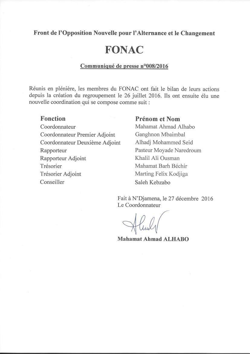 Tchad: l'universitaire Mahamat Ahmat Alhabo élu coordonnateur du FONAC