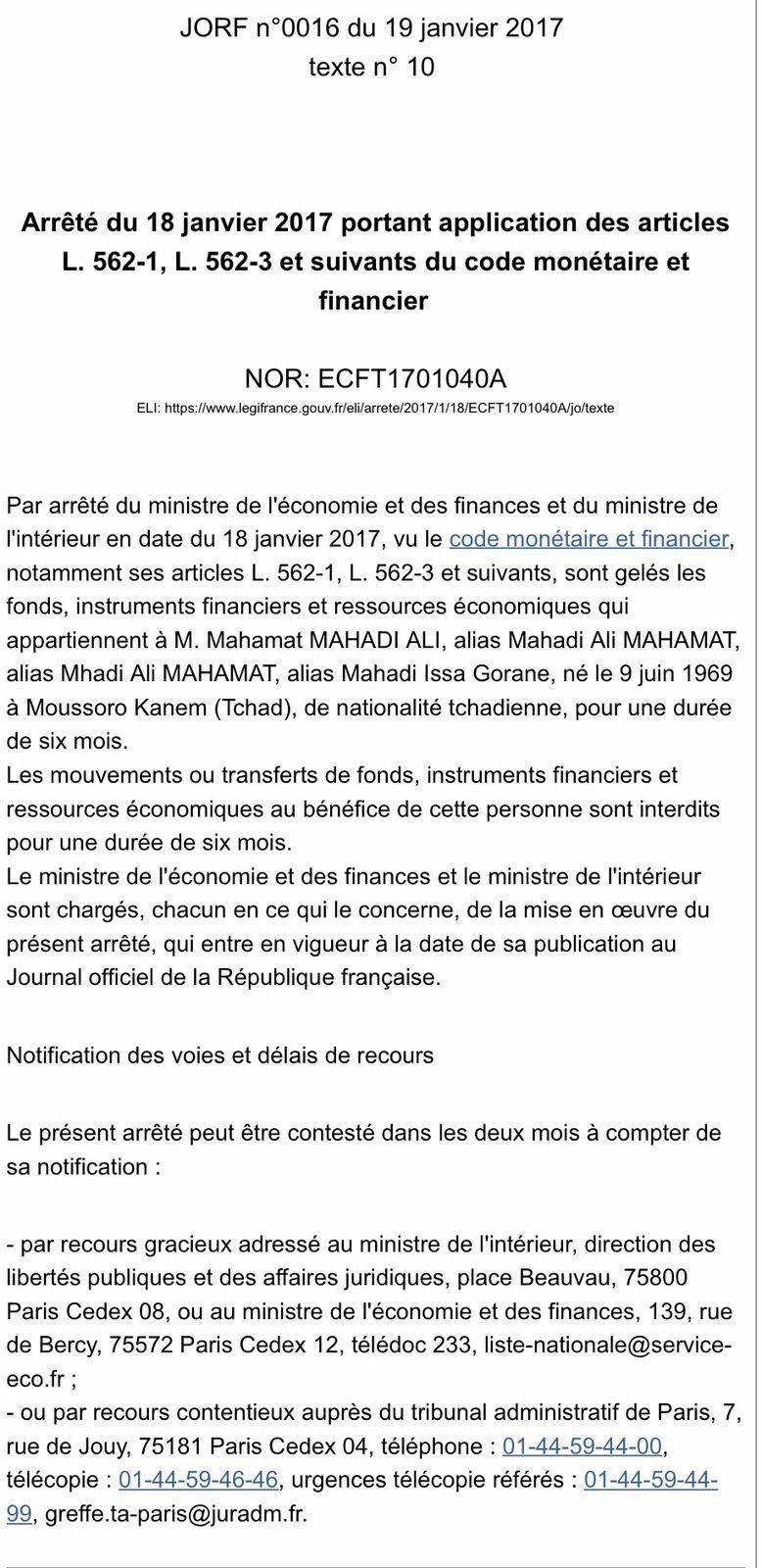 Quand la France accuse honteusement les opposants tchadiens de financement du terrorisme