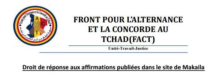 Tchad: le FACT recuse les propos tenus par Mahamat Hassane Boulmaye