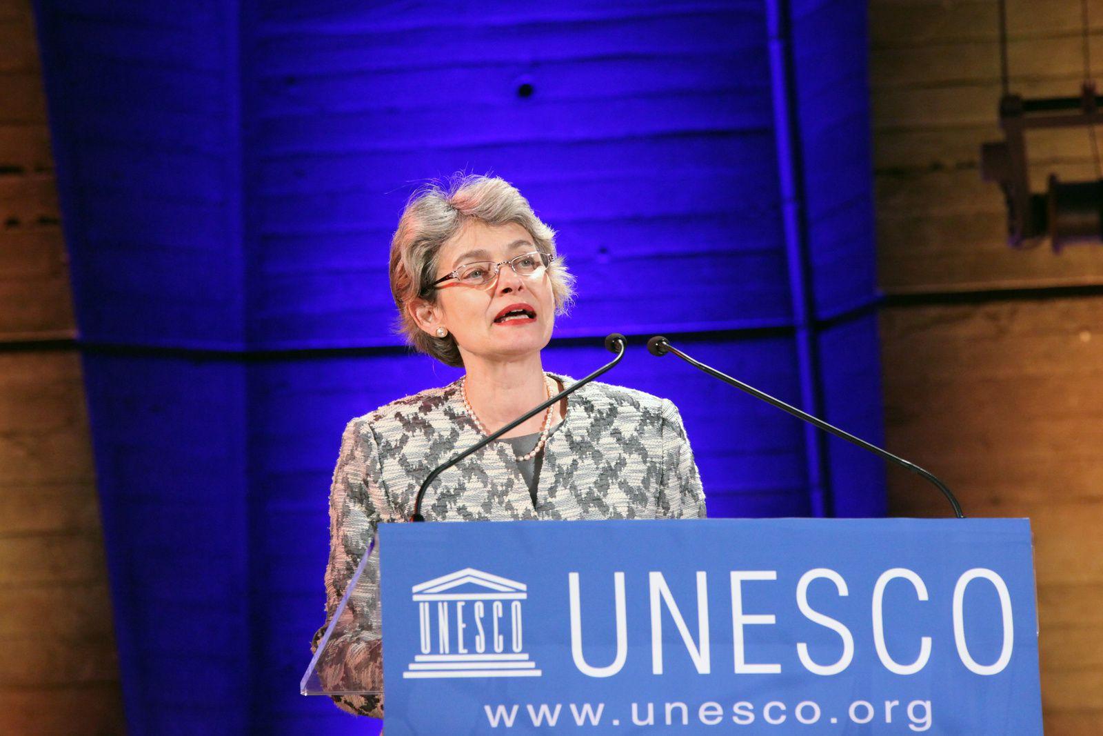 Montreuil: Irina Bokova à la tête de l'UNESCO interpellée sur la situation des blocages des travailleurs du SNA