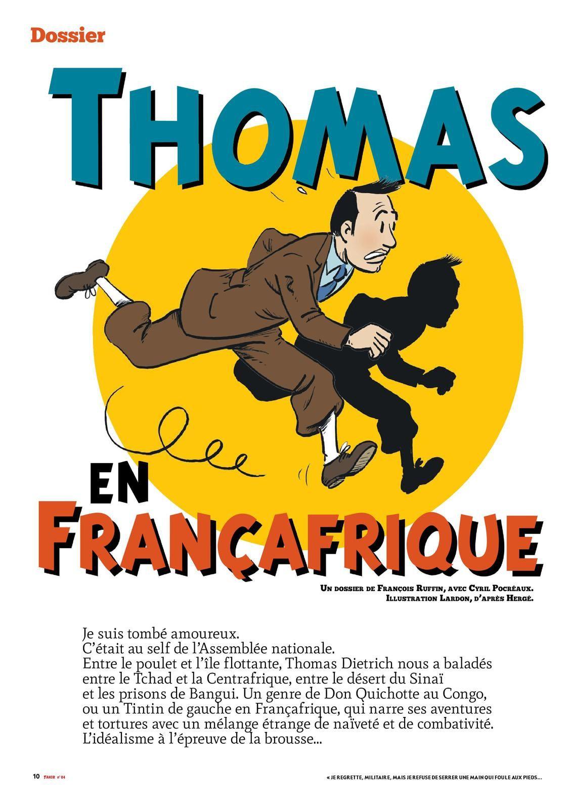 Thomas Dietrich fait la une du journal français Fakir !