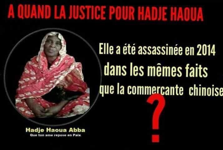 Tchad: Pourquoi la justice refuse d'arrêter et de juger les assassins de Mme Hadj Haoua Abba?