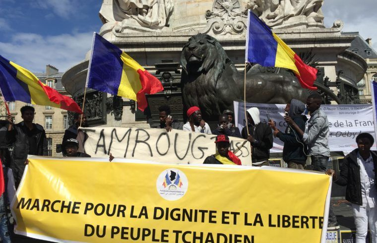 Un collectif de migrants tchadiens manifeste contre la dictature d'Idris Déby