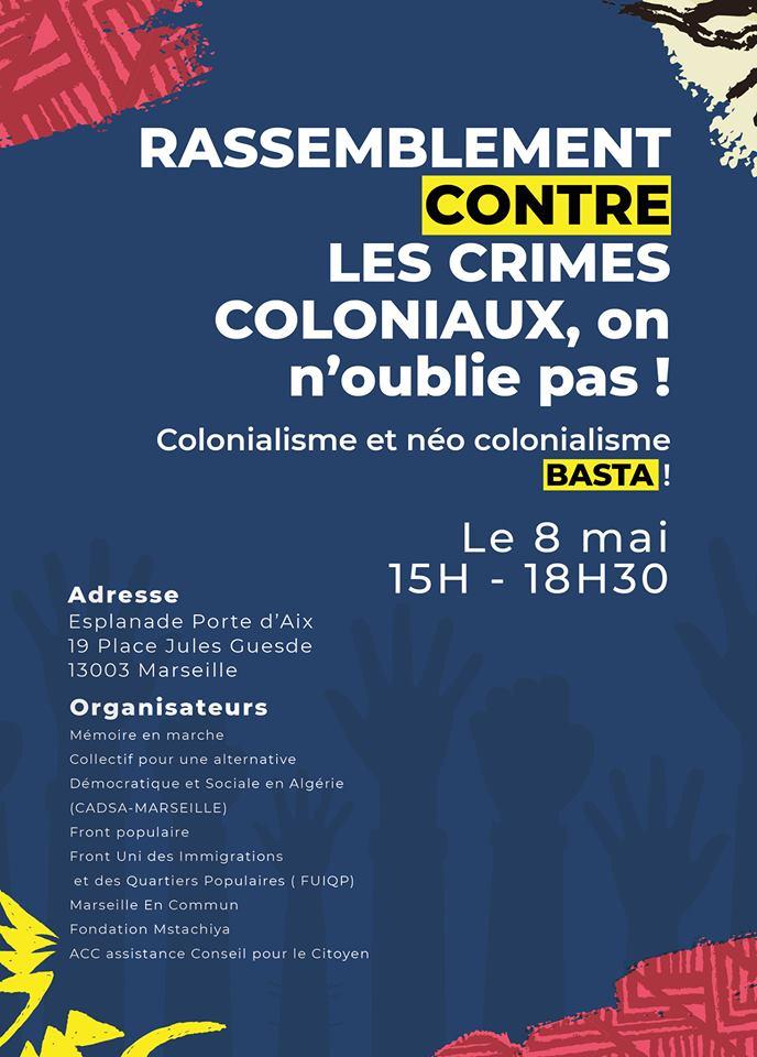 Rassemblement à Marseille contre les crimes coloniaux et néo-coloniaux