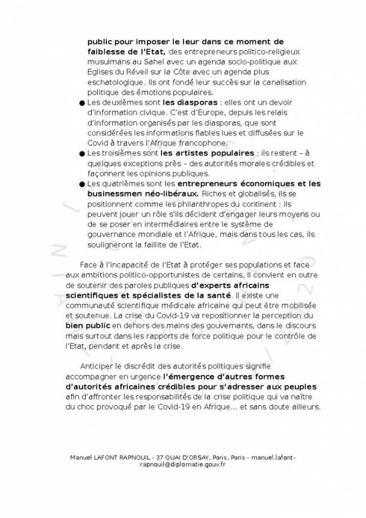 Tchad: traduction de la note du Quai d'Orsay