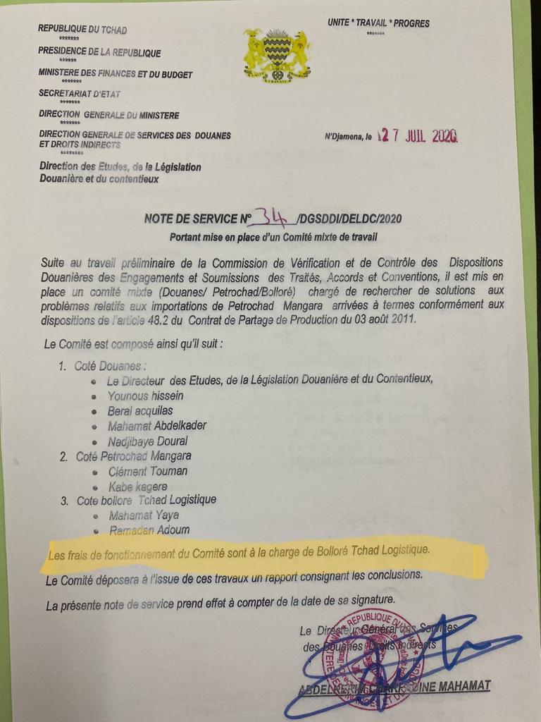 Abdelkerim Charfadine pourrit les douanes