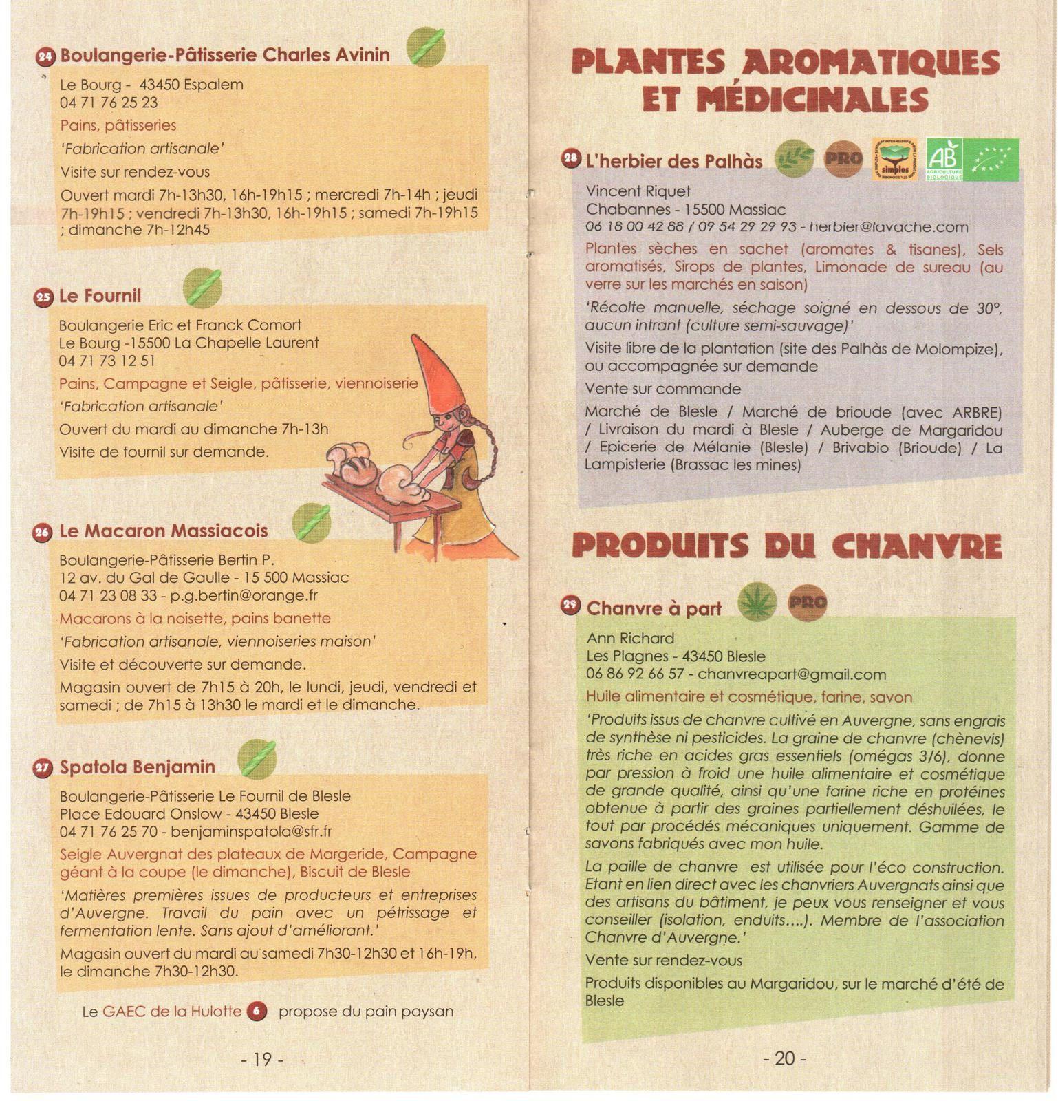 Massiac Blesle Les producteurs artisans (APABM)
