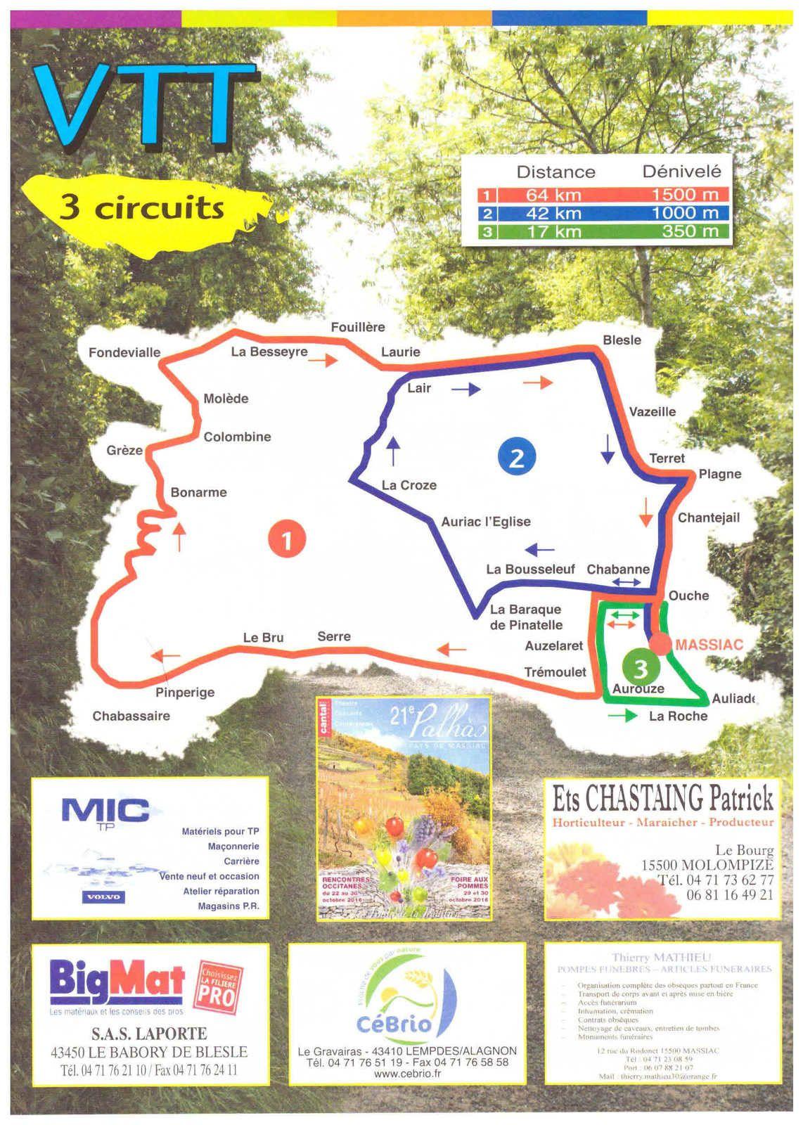 Massiac : Randonnée en pays d'Alagnon, VTT, Cyclo et Marche