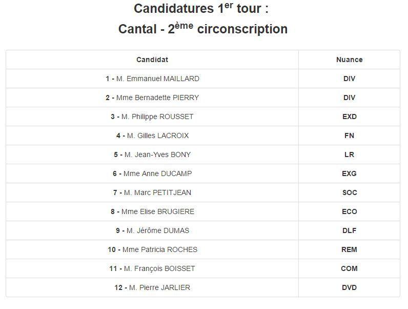 Elections législatives 2ème circonscription du Cantalcomment flinguer la campagne