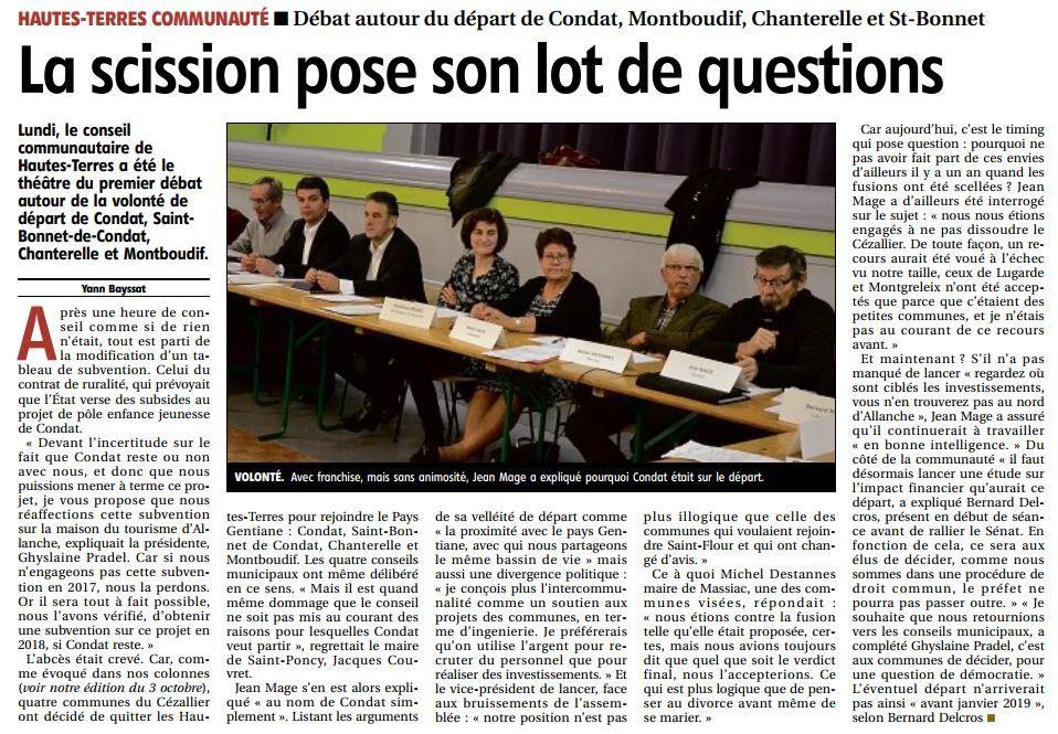 source le quotidien Régional du 23/11/2017