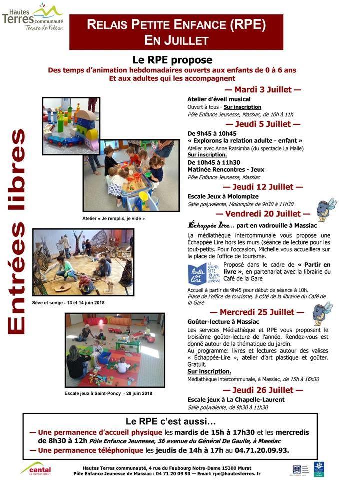 Massiac : relais petite enfance en juillet