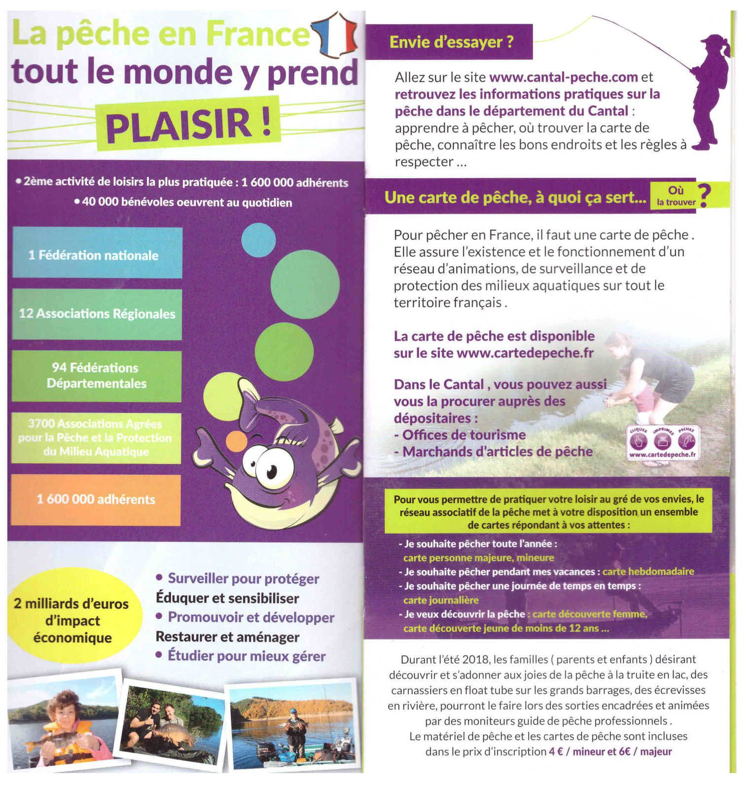 Cantal : votre carte de pêche