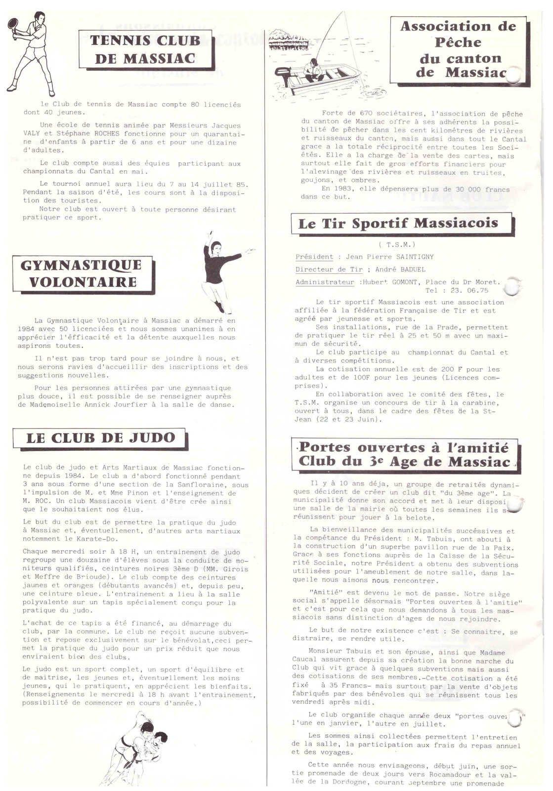 Massiac : bulletin municipal de 1985